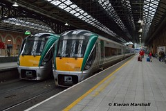 22018 and 22026 at Connolly, 1/8/18 (hurricanemk1c) Tags: railways railway train trains irish rail irishrail iarnród éireann iarnródéireann 2018 22000 rotem icr rok 4pce dublin connolly 22018 22026
