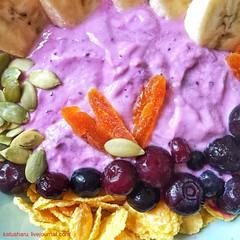 Breakfast (katusha.ru) Tags: fruit delicious завтрак foodie corn bananas yogurt food breakfast