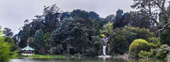 stow lake panorama (pbo31) Tags: sanfrancisco california nikon d810 color august 2018 summer boury pbo31 over panorama large stitched panoramic goldengatepark stowlake huntington falls waterfall green taipei sistercity gift pagoda strawberryhill