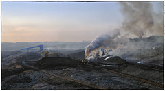 In Pursuit of Energy (Welsh Gold) Tags: js locomotive coal train sandaoling open pit mine industrial pollution mining xinjiang province china