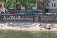 Boppard Beach (pni) Tags: boppard people homunculi water human being person man kid child boy sand beach river shore text written tree building woman bench fence embankment wall rhein rhine ger18 germany deutschland pekkanikrus skrubu pni