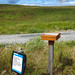 Kintyre Way suggestion-box and sign, 2018 Jul 30