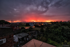 Tempesta al tramonto a San Gavino (antoniopedroni photo) Tags: thunder fulmini lampi tuoni tempesta tramonto sunset light sardegna sardinia