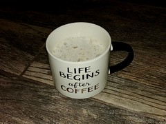 Good Morning Everyone ! (lillypotpie) Tags: coffee cup blackandwhite morning drink