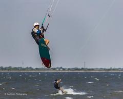 Hanging On (Kool Cats Photography over 10 Million Views) Tags: sports kiteboarding water fun oklahoma clouds sky lakehefner lake recreation