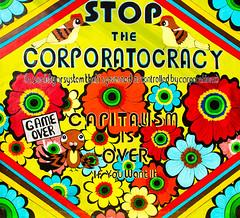 Stop the Corporatocracy (Thomas Hawk) Tags: america bayarea california clarion clarionalley mission missiondistrict sf sfbayarea sanfrancisco usa unitedstates unitedstatesofamerica westcoast graffiti meganwilson fav10