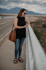 Kelly (M///S///H) Tags: lenstagger nm adaptedlens august2018 blueeyes bridge brunette clouds desert erosion gf girl girlfriend mirrorless mountains newmexico outside partlycloudygorge riogrande riograndegorge riograndegorgebridge sky sony sonya7riii sonymirrorless taos town vintagelens woman womankelly