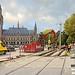 Tramsporen richting Scheveningseweg opgebroken