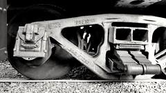 B&W B&O (trainmann1) Tags: samsung samsunggalaxy galaxy s8 galaxys8 cell cellphone phone amateur handheld bw blackwhite blackandwhite desaturated bo wheel wheels truck steel rail rails train railroad gravel ballast