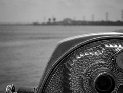 Burlington Bay lookout [👀] (mmollame18) Tags: lens burlington nikon d7200 detail monochrome black white bw ontario view outlook waterworks city downtown