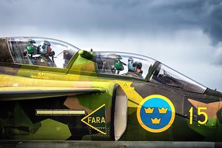 SE-DXO SAAB SK 37E Viggen Swedish Air Force Historic Flight