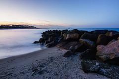 Stones on the baltic sea (niklas_sl) Tags: stone stones baltic sea balticsea ostsee sand see waves wasser kühlungsborn water beach ocean sky blue meer landscape city shell lights sunset