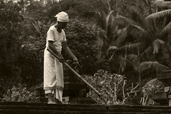 Pura Maintenance 2 (Triple_B_Photography) Tags: bali balinese blackwhite canon contrast culture eos 2017 7d asia faith hindu hinduism indonesia lokal lifestyle portrait people sepia travel tourism tropical traditional temple world burn cleaning pura