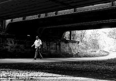 (Guido Klumpe) Tags: water bridge mann men gebäude architecture architektur building perspektive perspective leonegraph streetphotographer streetphotography candid unposed street germany deutschland city stadt monochrome bw blanco negro bn sw schwarz weis panasonicgx80 mft hannover