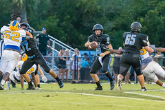 """PVHS v. Palatka-162 (mark.calvin33) Tags: football field sport ball """"high school"""" """"ponte vedra high pvhs block tackle rush run pass catch receiver blocker """"running quarterback fumble completion reception hike pitch snap """"friday night lights"""" fans stands kick """"end zone"""" """"nikon 2018 win athletics athletes """"night photography"""" """"sharks football"""" back d7100"""