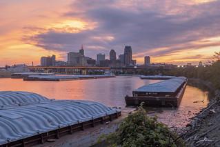 Sunset along the St. Paul Riverfront