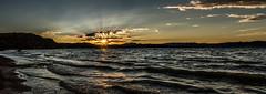 Flaming Gorge Sunrise (LevixBroski) Tags: utah wyoming ut wy utahamazing flaming gorge flaminggorge water lake reservoir reservoirs sun rise sunrise clouds moody mood adventure blue turquoise waves wave sunray sunrays southernwyoming northernutah north south
