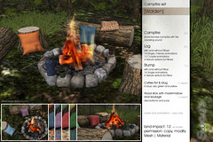 Sway's [Walden] Campfire Set | Spotlight (Sway Dench / Sway's) Tags: campfire coffee pot mug marshmallow sausage outdoor camping cozy fire camp log stump pillow sl vr sways