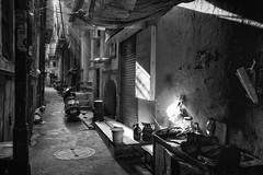 morning light on the street (charlesgyoung) Tags: olddelhi delhi d500 india rajasthan charlesyoung karineaignerphotographyexpedition nikon nikonphotography nikondx streetphotography blackandwhite
