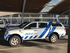 Police Car Portugal - Mitsubishi L200 Pickup Truck - Policia Portugal PSP - Faro Airport - August 2018 (firehouse.ie) Tags: 59gu71 suv truck pickup mitsubishil200 l200 mitsubishi polizeiauto polizeiwagen polizei polizia politie politi polis police policja portugal policia psp