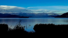 (Stefania Avila) Tags: muelle hierba campo pier color blue lake water sky nature landscape colombia boyaca naturaleza mountains tota clouds sunrise