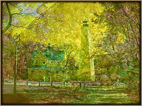 Milwaukee WI ~ North Point Lighthouse ~ 1886 ~ Museum ~ Texture