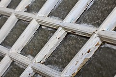 Window pattern (Read2me) Tags: window glass wood old antique paint white square shape geometric dof cye pree texture thechallengefactorywinner ge