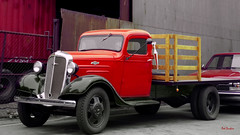 1935 Chevrolet 12' Stakebed (Pat Durkin OC) Tags: 1935chevrolet truck red stakebed gasoline