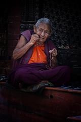 A Venerable Tibetan At The Boudhanath, Kathmandu (El-Branden Brazil) Tags: nepal nepalese bodhnath kathmandu asia asian buddhism monk tibetan buddhist sacred holy religion buddha boudhanath