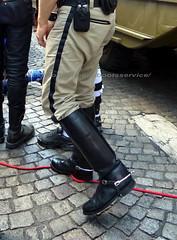"""bootsservice 18 750796 (bootsservice) Tags: paris """"gay pride"""" bottes cuir boots leather motards motos motorcyclists motorbiker caoutchouc rubber uniforme uniform"""