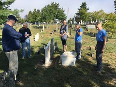 350th September Celebration - Martha and Janet demo while John and Joy tour a couple from Texas (Spirits Alive at the Eastern Cemetery) Tags: conservation martha joy janet john 350th easterncemetery spiritsalive byhdoggett 2018 20180915