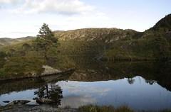Sørlivatnet (magneroed) Tags: sørlivatnet fitjar fitjarfjellet lake water vatn reflexion speiling mountain fjell norway landscape sky himmel forest skog
