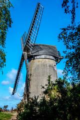 Bidston windmill (Tony Shertila) Tags: ©2018tonysherratt 20180829135328bidstonhilllr europe britain england merseyside wirral bidston birkenhead hill windmill sky tree clouds