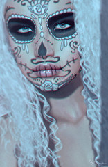 Your brain is my favorite place to hide (Neva Valon) Tags: taox taoxtattoo tattoo tattoos ink makeup muertos muerte skull corps doll halloween catwa facepaint sl secondlife female woman portrait avatar virtual lotus stealthic