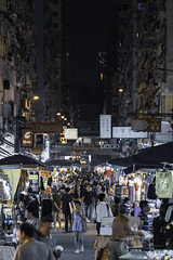 Fa Yuen Street, Hong Kong (mikemikecat) Tags: ç´è² 旺角 花園街 fa yuen street hong kong neonlights neonsign neon nightscape nightview night mikemikecat market stalls people