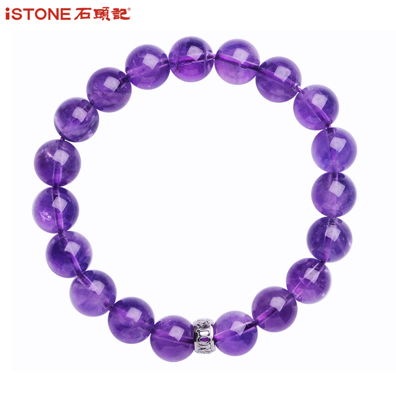 Stone, natural amethyst, single chain bracelet, hand string, female ornaments, Tanabata gifts, sending girlfriend to send love to mother.