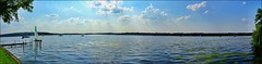 Wannsee Panorama - Berlin, DE (André-DD) Tags: berlin wannsee see lake wasser water wolken clouds cloud wolke sonne sun sommer summer outdoor boat boot deutschland germany panorama