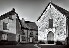 Angoissee ... French Village (Missy Jussy) Tags: angoissee france village streets church homes southwestfrance dordogne trip holiday mono monochrome blackwhite bw blackandwhite 5d canon5dmarkll canon5d canoneos5dmarkii canon ef50mmf18ii 50mm fantastic50