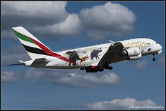 A6-EER / ZRH 26.08.2018 (propfreak) Tags: propfreak zrh lszh zurich kloten a6eer airbus a380861 emirates unitedforwildlife a380