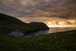 Sunset over the Cambir and Soay
