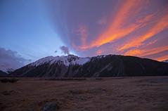 Aoraki Sunrise (Matt Champlin) Tags: sunrise mtcook aorki aoraki newzealand travel hiking amazing incredible peace peaceful lodge canon 2018 mountains orange beautiful snow winter adventure