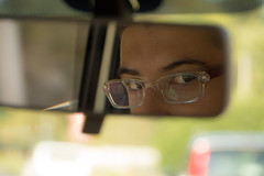 Duel (davidepremoselli) Tags: duel drive eyes glasses look glance mirror car ordinarylife people friends canon reflex sigma