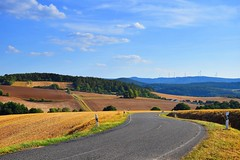 summer moods (JoannaRB2009) Tags: summer mood hesse hessen germany deutschland nature landscape fields cultivated land path road windingroad hills colours