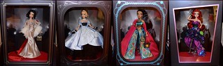 Premiere Series Designer Dolls - Snow White, Cinderella, Jasmine and Ariel - Disney Store Display Dolls - Side By Side Collage