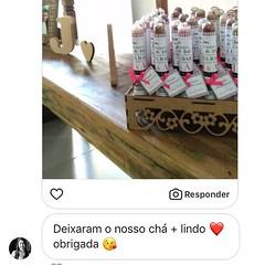 Ah que delícia receber essas mensagens! ❤️❤️❤️❤️❤️❤️ #casamentosetravessuras #clientesatisfeitacet (casamentosetravessuras) Tags: instagram facebookpost lembrancinhas personalizadas
