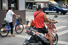 You need eyes in the back of your head driving in Thailand! (FimRay) Tags: macaw motorbike motorcycle parrot pillionriding wildlife bird street traditionalstreet thailand thai asian people funny amusing unusual