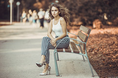 Fanni (Vagelis Pikoulas) Tags: portrait canon 6d sigma art 85mm f14 budapest margaret island hungary girl woman street photography photoshoot september autumn 2018 beautiful beauty women bench bokeh