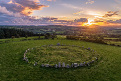 """Mystery Creates a Different Kind of Beauty"" (Gareth Wray - 12 Million Views, Thank You) Tags: ancient pagan druid druids stone circle standing stones worship monument monuments raphoe county donegal ireland landscape tourist tourism site visit scenic landmark sun set sunset red blue sky summer country side countryside lens gareth wray photography irish eire granite field national trust colourful clear day historic famous attraction photographer pro vacation europe neolithic bronze age outdoor grass dji phantom p4p drone aerial 2018 celtic architecture plant quadcopter four cloudscape"