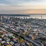 Downtown Seattle - aerial shot thumbnail