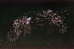 (Just A Stray Cat) Tags: konica minolta centuria 800 montreal quebec canada fireworks lotto la ronde jacques carter bridge grain expired